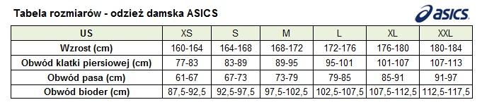tabela rozmiarów butów asics